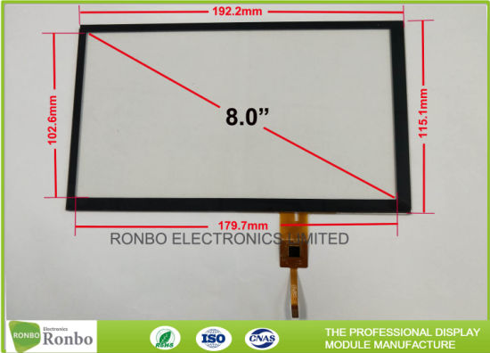 china touch screen projected capacitive touch panel 8 0 inch low