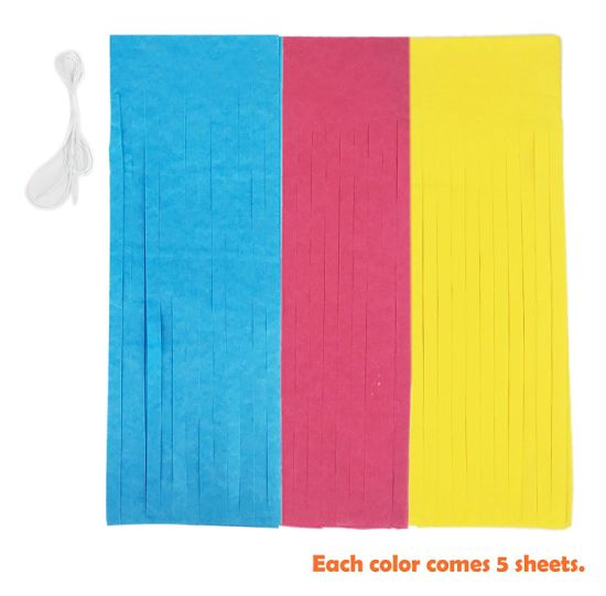 Umiss Pink Blue Yellow Teen Birthday Decorations Set With Tassel Garland Paper Fans