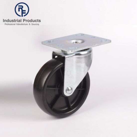 RF High Quality OEM Style Steel and Rubber Rigid 5'' Cargo Caster Wheel