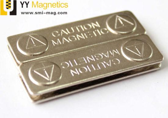 Metal Name Badges NdFeB Name Tag Magnet