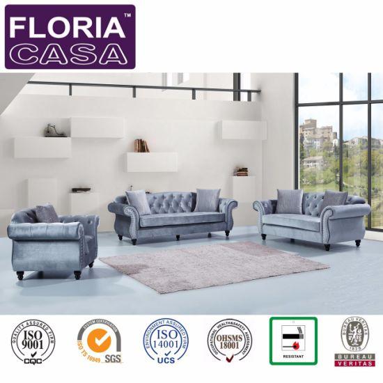 China New Classic Furniture Living Room Fabrics Sofa China Sofa