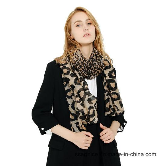 e0255b53f73ba Printing Scarf Spring Scarf Animal Print Leopard Scarf Khaki Viscose Neck Blanket  Scarves Stoles Warm Fashionable Ladies Shawl Wrap Scarf