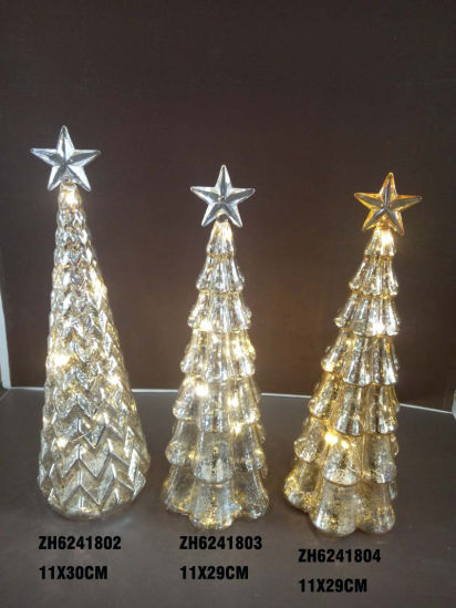 2021 New Design Chritsmas Glass Tree with Star