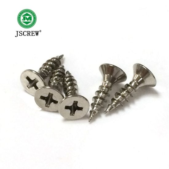 China Flat Head Stainless Steel Decorative Self Tapping Screw