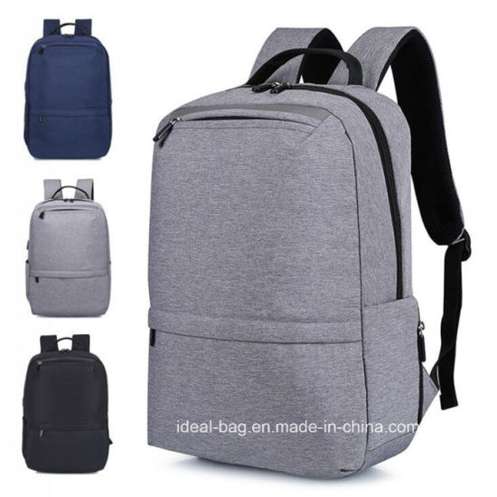 Custom Fashion Canvas 15 Inch Laptop USB Outdoor Sports Leisure Travel School Computer Shoulder Backpack Wholesale pictures & photos