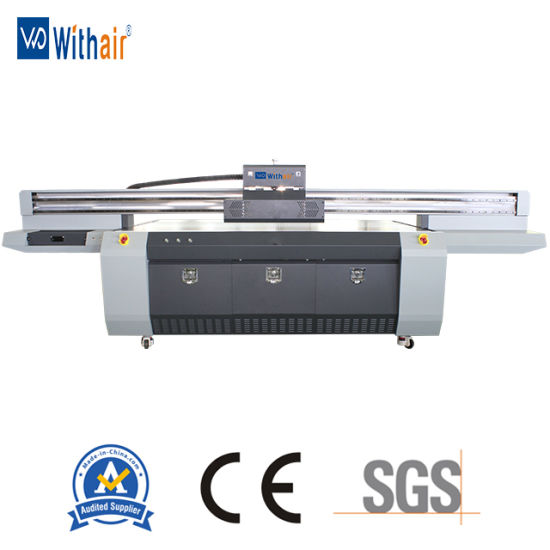 China 2 5*1 3m Industrial UV Flatbed Inkjet Printer with
