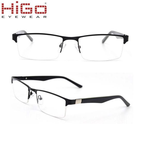 1e86f7fd87c Designer Metal Half Rim Eyeglasses Frame Men′s Glasses Spectacles Optical.  Get Latest Price