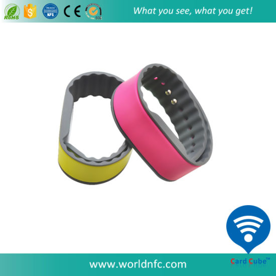 Colorful Silicone RFID Wristband for Amusement Park