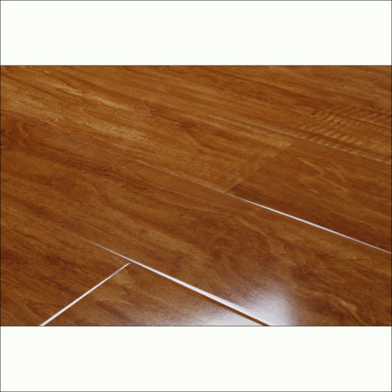 China High Gloss High Quality Best Price Laminate Flooring With V