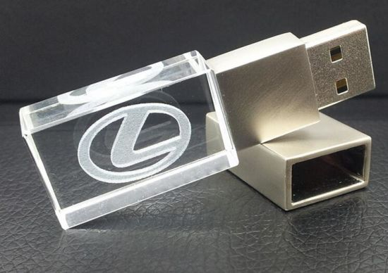 2016 Hot Selling Promotion Gift Crystal USB Flash Drive with 3D Logo pictures & photos