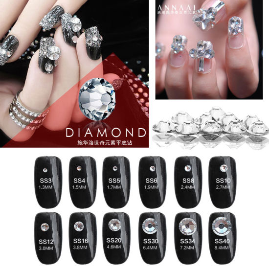 Flatback Nail Rhinestones for Nails Decoration pictures & photos