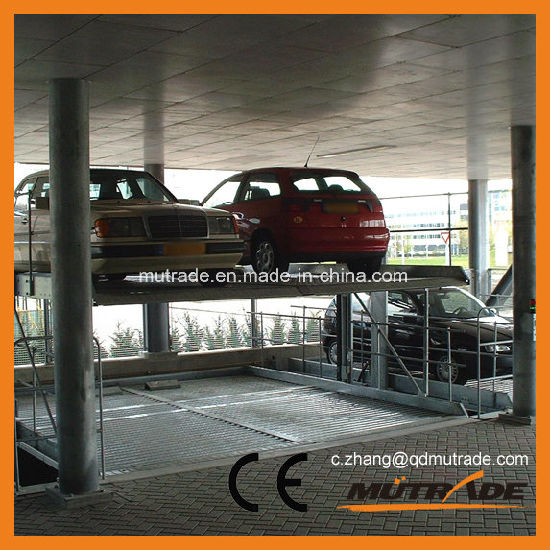 Pit Two Posts Columns Basement Cylinders Car Parking Lift pictures & photos