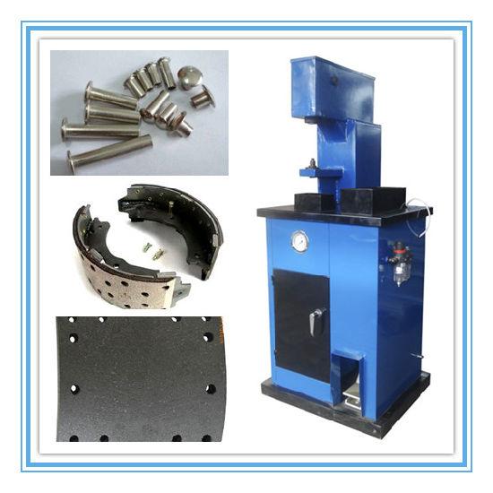 Brake Rivet Press : China pneumatic brake lining rivet machine
