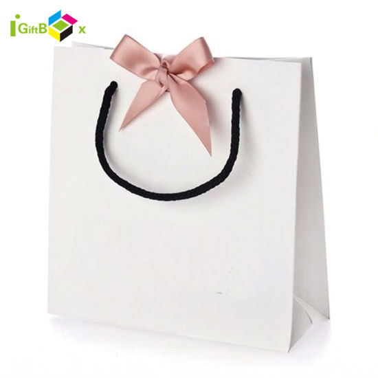 Custom Printed Wedding Dress Garment Paper Packaging Bag