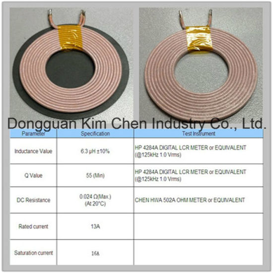 China Qi A11 Wireless Chargering Coil with Ferrite