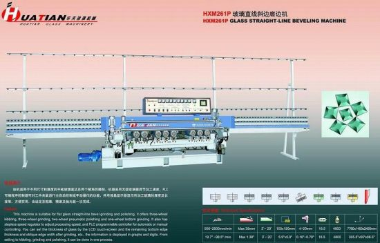 9 Spindles Automatic Flat Glass Straight Line Beveling Machine