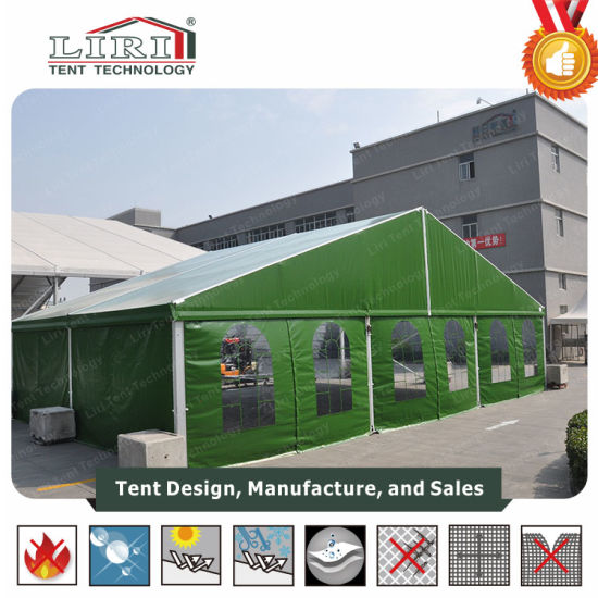 China Big Army Tent Dormitory Camping Kitchen Army Tent