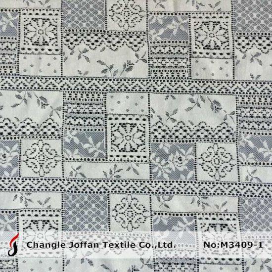 Fashion Cotton Lace Fabric for Apparel (M3409-1)