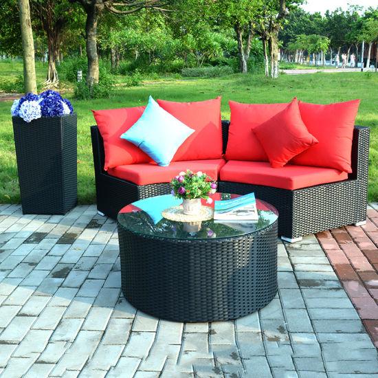 New Lay Down Patio Rattan Sofa Corner Sofa Garden Outdoor Furniture