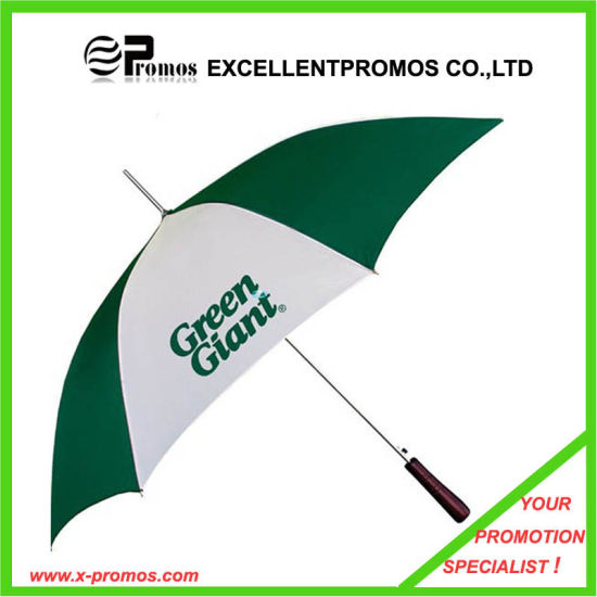 Promotional Logo Printed Wood Handle Custom Umbrella (EP-U6232) pictures & photos