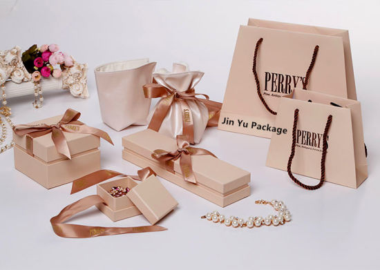 China New Arrive paper Gift Jewelry Boxes with Silk Ribbon China