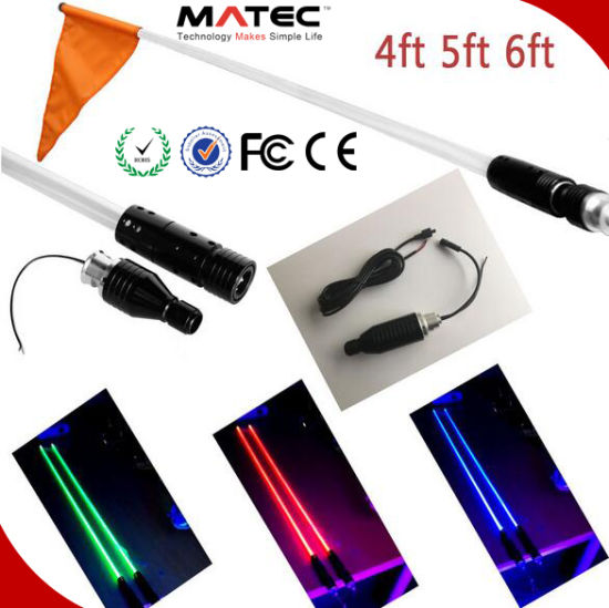 Promotion 4/5/6 Feet Quick Release ATV UTV LED Light Whips with Flag - 6 Color Available pictures & photos