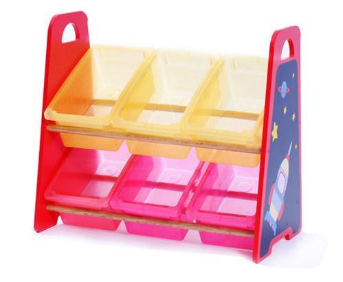 Wooden Toy Storage Shelf Plastic Bin Tidying Box Furniture Toy pictures & photos