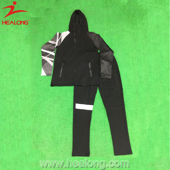 Healong China Good Price Clothing Custom Design Sublimation Cheap Gym Tracksuits pictures & photos