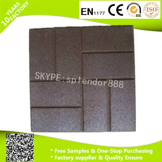 China Colorful Rubber Flooring Bricks For Outdoor And Indoor Ground - Brick pavers for indoor floors