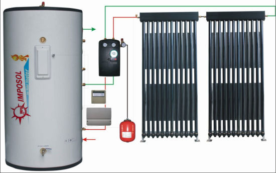 Split Active Solar Energy Water Heater System with Heat Pipe