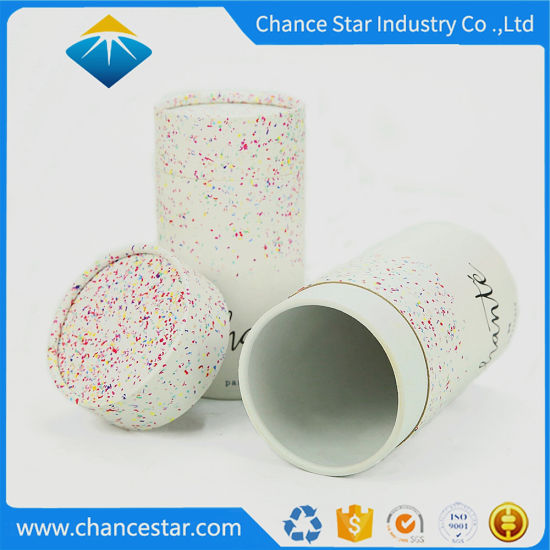 Custom Rounded Edges Paper Cylinder Box for Gift Packaging