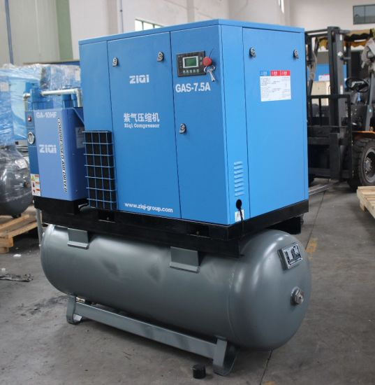 Portable Screw Air Compressor with Tank and Dyrer pictures & photos
