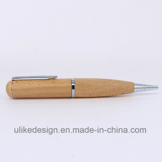 Imprint Logo Pen Wood USB Flash Pen Driver pictures & photos