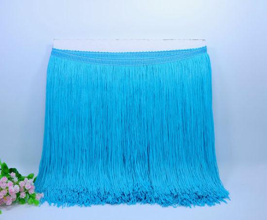 Nylon Doule Thread Thickness Silk Chain Fringe Tassel for Dancing Dress