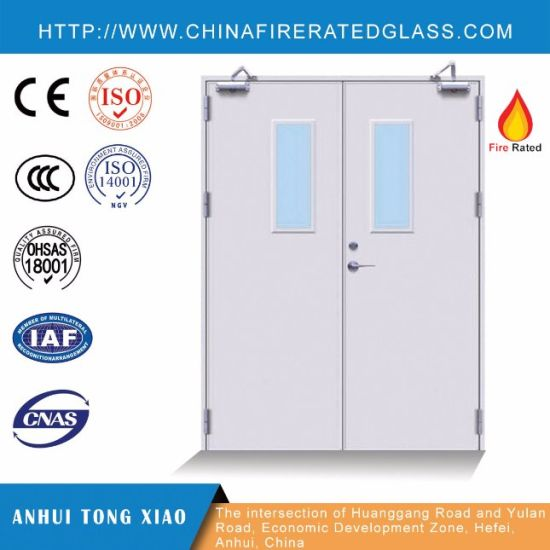 Fire Rated Steel Fire Doors with UV Paint/Powder Coated/Wood Grain Thermal Transfer Finish