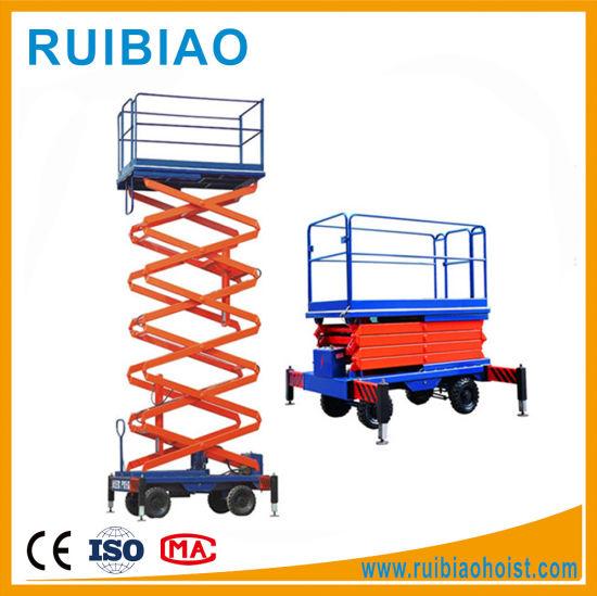 China Sjy1 0-4 Hydraulic Mobile Scissor Lift Scaffolding