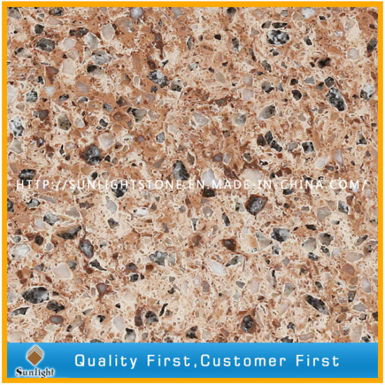 Red/White/Blue Artificial Stone Quartz Stone for Countertops and Worktops pictures & photos
