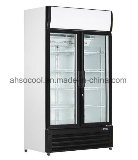China 1200 Liters Stand Up Glass Door Refrigerator Freezer For Beers