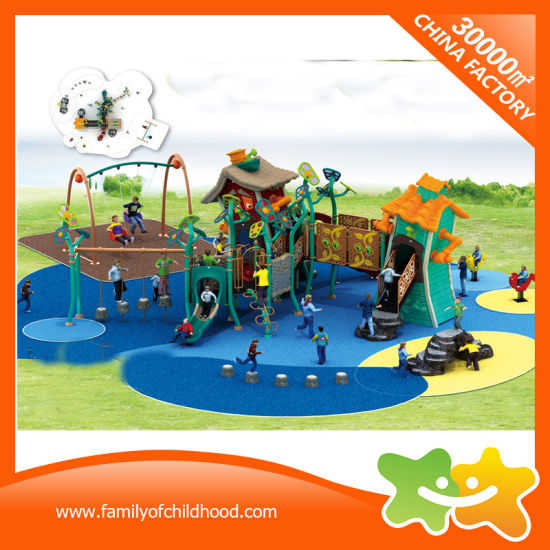 Crooked House Outdoor Amusement Park Plastic Tube Slide with Swing pictures & photos