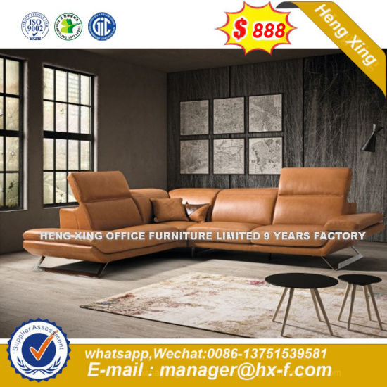 White Color Living Room Top Grain Genuine Leather Sofa (HX-8N2167) pictures & photos