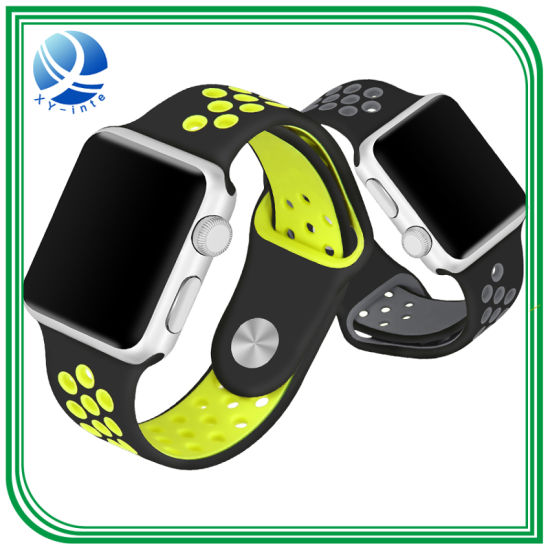 Silicone Band Watch Strap Adjustable Buckle Band for iPhone Apple Watch b15784a33c15