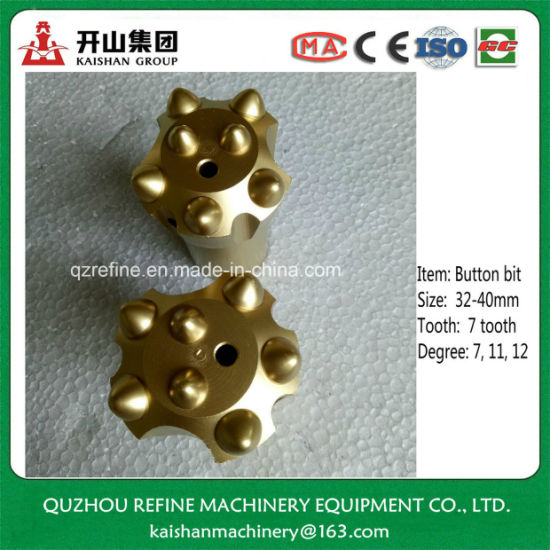 34mm Best Carbide Taper Button Bore Bit for Hard Quarry pictures & photos