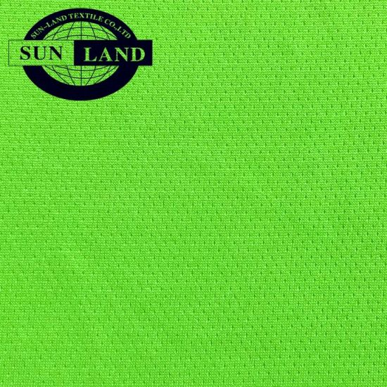 Hot Selling 100%Normal Polyester Knit Dry Fit Check Eyelet Mesh Fabric for T-Shirt