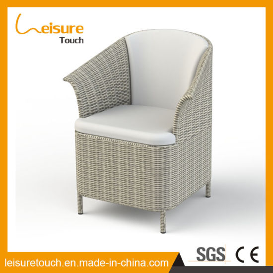 New Design PU Leather Patio Hotel Dining Chair with Aluminum Frame Rattan Outdoor Home Furniture pictures & photos