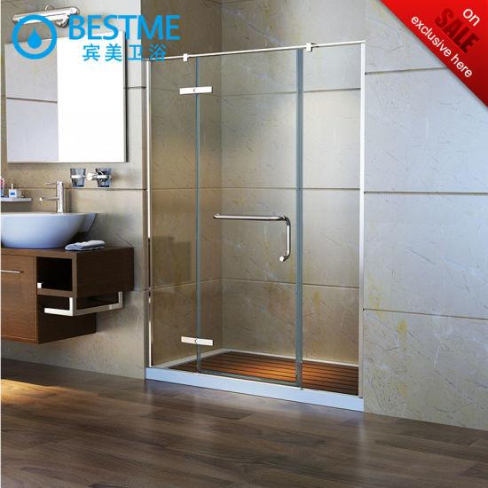 China Good Price Of New Design Shower Door With Acrylic Tray BL - Bathroom glass door price