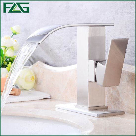 Flg Brushed Nickle Bathroom Waterfall Mixer/Tap/Faucet