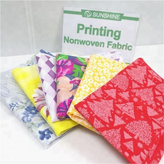 Wholesale PP Non Woven Fabric Printed Spunbond Nonwoven Fabrics