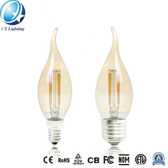 LED Candle Filament Lamp 4W Dimmable C35 LED Light Bulb