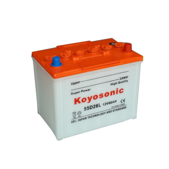 Rechargeable Dry Charged Car/Automotive Battery 12V 60ah Dry Battery N50z