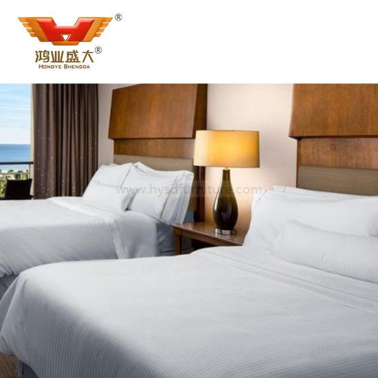 Luxury Hotel Furniture Black High Gloss Bedroom Sets (HY5000)